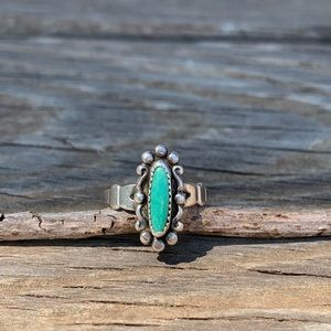 Vintage bell trading post ring